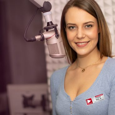 Moderatorin Karina Krimmel